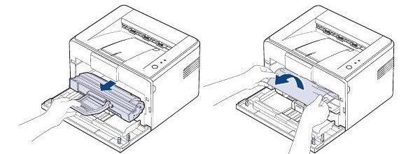 как вытащить зажеванную бумагу из принтера