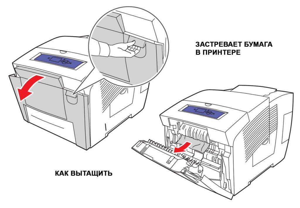 застревает бумага в принтере